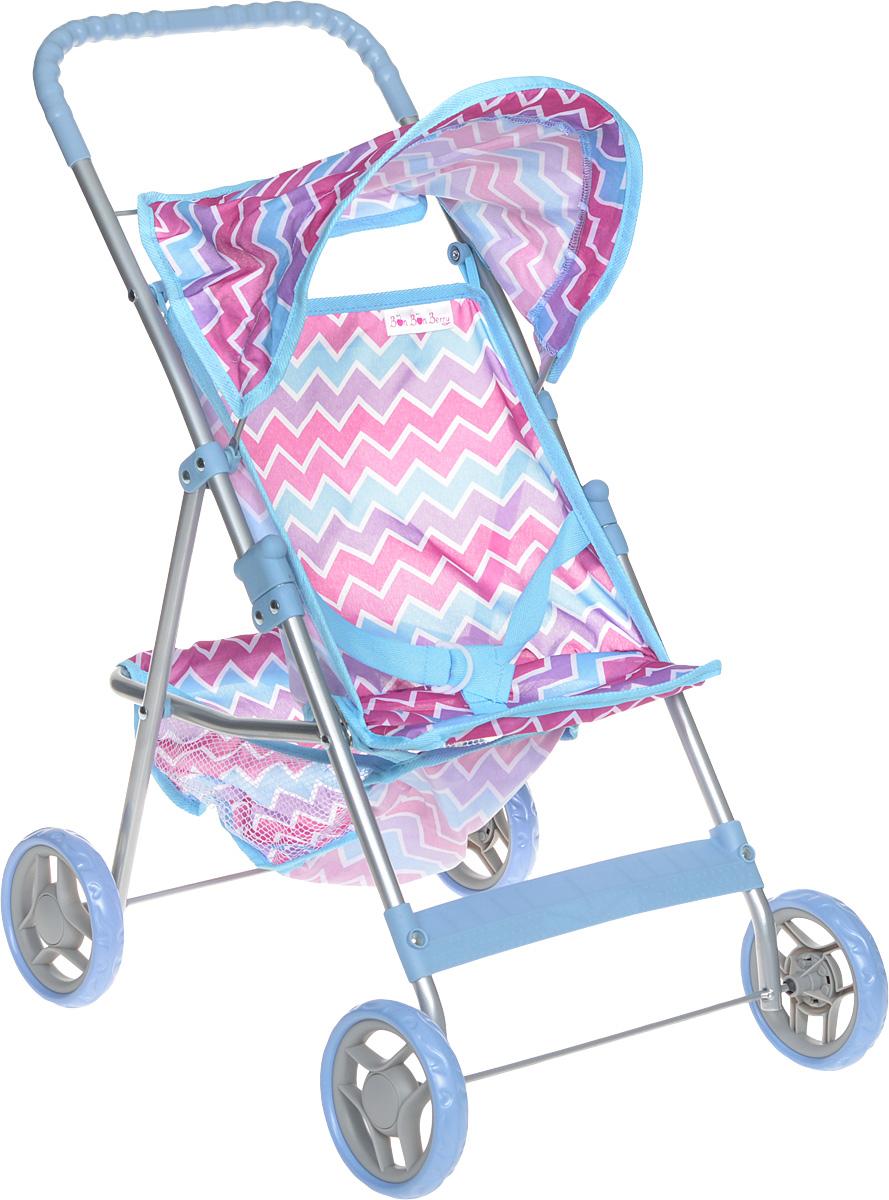 Bon Bon Berry Коляска прогулочная для кукол цвет голубой розовый9304MПрогулочная коляска Bon Bon Berry очень компактна, удобна в эксплуатации и комфортабельна. Каркас коляски выполнен из облегченного металла с пластиковыми элементами. Прогулочная коляска оснащена козырьком, отделением для игрушек, удобной прорезиненной ручкой и маневренными колесами. Для того, чтобы кукла не упала, сиденье снабжено текстильным ремешком. Элементы из текстиля легко снимаются для стирки. Коляска легко складывается, в сложенном виде занимает мало места, поэтому ее удобно хранить. Играть с коляской можно как в помещении, так и на улице, что несомненно порадует вашу малышку, ведь теперь свою любимую куклу она сможет брать с собой на прогулки! Игрушка предназначена для сюжетно-ролевых игр, способствующих развитию фантазии, формированию эмоциональной отзывчивости и социализации ребенка.