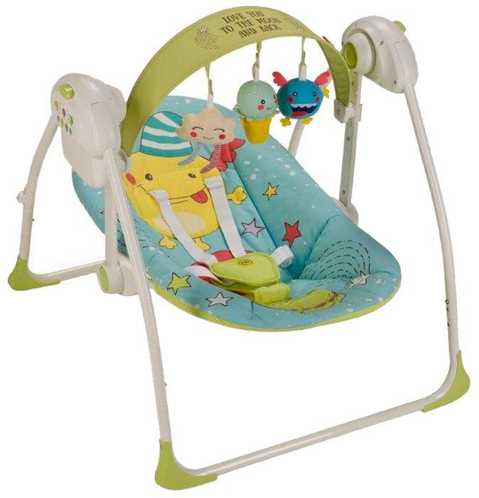 Happy Baby Электрокачели Jolly Blue4650069782575Вашему вниманию представляются кресло-качели Jolly из коллекции MONSTER. Качели, напоминающие малышу среду, в которой он находился до рождения, помогут ему быстрее адаптироваться к внешнему миру, а также станут отличным помощником матери в уходе за ребенком. В качельках Jolly малышу будет уютно, тепло, безопасно и весело. Таймер на 10, 20 и 30 минут даст матери время для решения насущных бытовых вопросов. Три скорости укачивания позволят подобрать оптимальный вариант в зависимости от того, спит малыш или бодрствует. Восемь мелодий с возможностью регулировки громкости и съемная регулируемая дуга с игрушками не дадут ребенку скучать. Работают качели от батареек (тип С, 4 штуки) или от сети через адаптер.