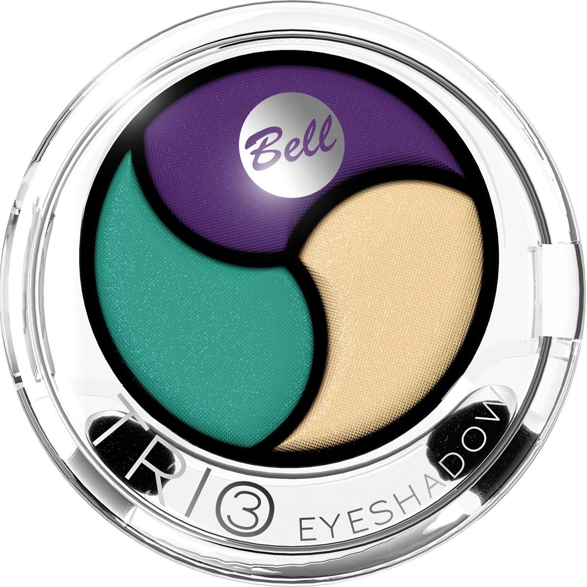 Bell Тени для век 3х Цветные Trio Eyeshadow 4 гр