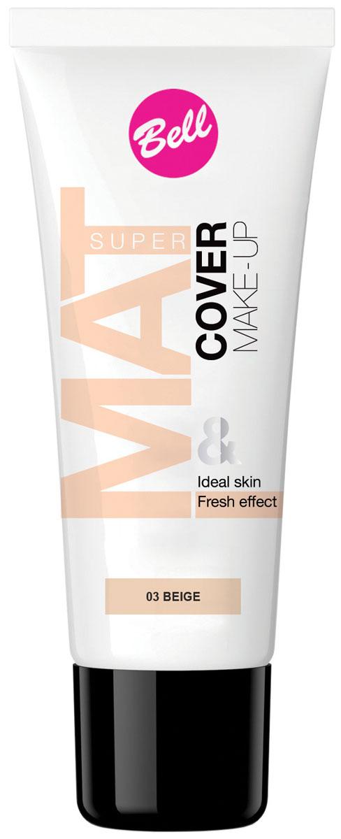Bell Флюид матирующий тональный, Стойкий Эффект Super Mat Cower Make-up Foundation 30 грBflSM003Обеспечивает матовый макияж в течение всего дня. Эффективно скрывает недостатки кожи, гарантируя свежий и здоровый тон лица. Содержит комплекс активных витаминов C и E. Тон 3
