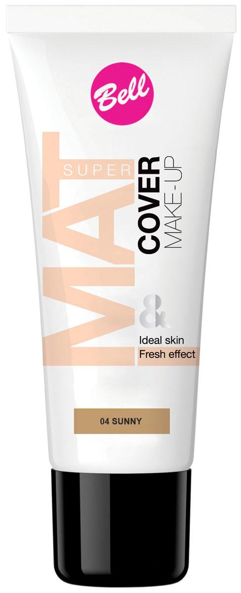 Bell Флюид матирующий тональный, Стойкий Эффект Super Mat Cower Make-up Foundation 30 грBflSM004Обеспечивает матовый макияж в течение всего дня. Эффективно скрывает недостатки кожи, гарантируя свежий и здоровый тон лица. Содержит комплекс активных витаминов C и E. Тон 4