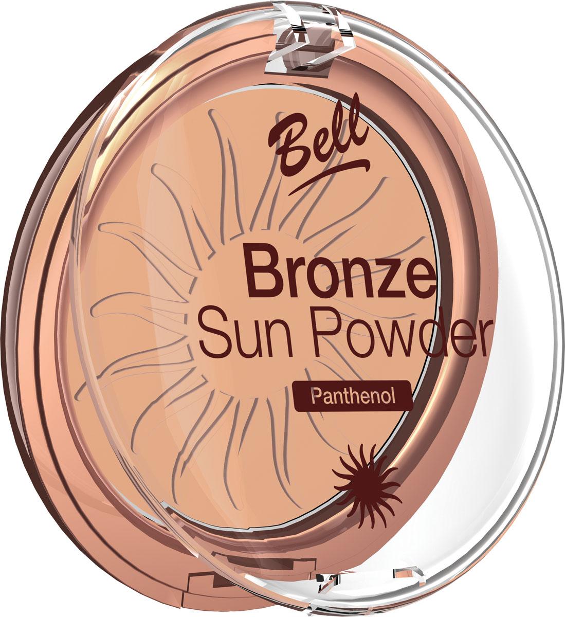Bell Пудра бронзирующая с пантенолом Bronze Sun Powder Panthenol Тон 24, 9 грBpbBS024Пудра бронзирующая Bronze Sun Powder придаст Вашей коже теплый, естественный оттенок загара. Идеально подходит для всех типов кожи. Пантенол, входящий в состав пудры оказывает мягкое, успокаивающее воздействие на кожу. Благодаря особой формуле пудра поглощает избыточную влагу, придавая коже ровный матовый оттенок. Бархатная текстура пудры обеспечивает легкое и равномерное нанесение. Тон 24