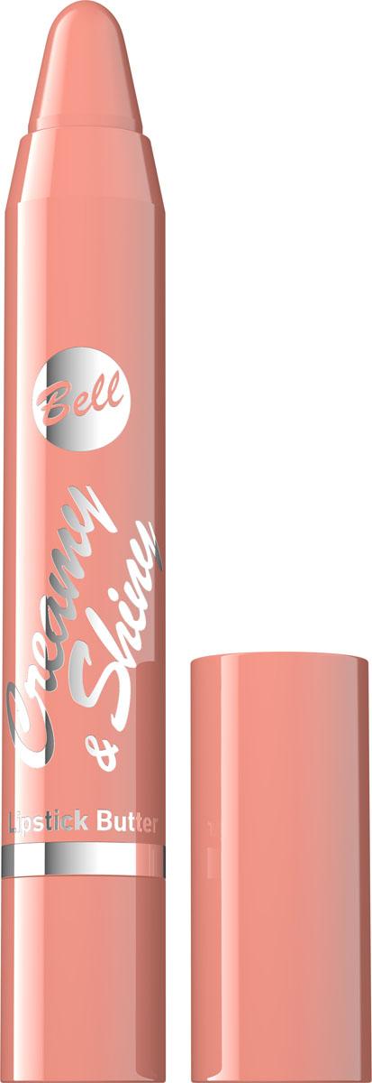 Bell Помада-карандаш Кремовая Creamy&shiny Lipstik Butter Тон 1, 4 грBpoCS001Продукт новой генерации, не нуждающийся в заточке. Формула помады-карандаша плавно наносится на губы, создавая кремовый слой насыщенного цвета. Специально подобранные компоненты обеспечивают увлажнение, а также смягчение кожи губ. Мягкая текстура не оставляет белых полос на губах. Помада-карандаш представлена в 7 тонах, обладающих приятным фруктовым ароматом. Тон 1