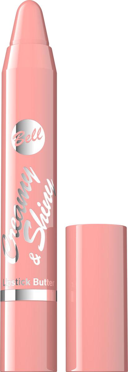 Bell Помада-карандаш Кремовая Creamy&shiny Lipstik Butter Тон 2, 4 грBpoCS002Продукт новой генерации, не нуждающийся в заточке. Формула помады-карандаша плавно наносится на губы, создавая кремовый слой насыщенного цвета. Специально подобранные компоненты обеспечивают увлажнение, а также смягчение кожи губ. Мягкая текстура не оставляет белых полос на губах. Помада-карандаш представлена в 7 тонах, обладающих приятным фруктовым ароматом. Тон 2