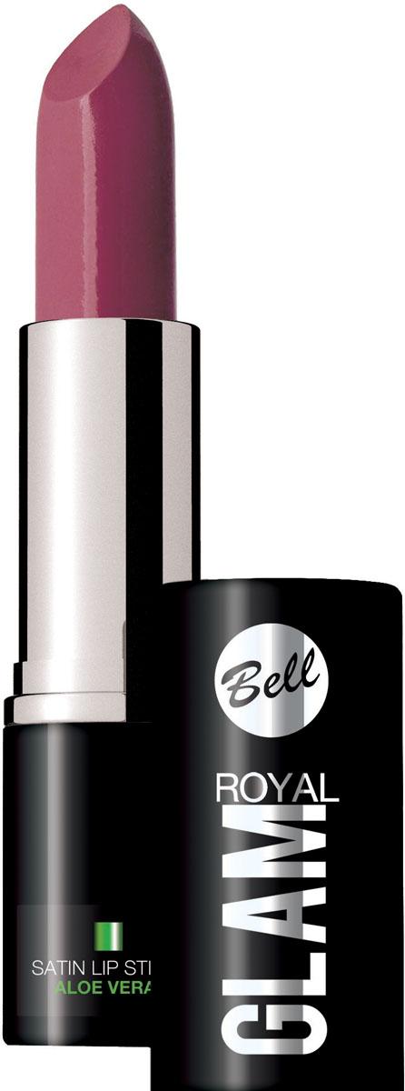 Bell Помада для губ Royal Glam Satin Lipstick Тон 75, 4,2 грBpomRG075Благодаря специально разработанной формуле, губная помада Royal Glam обладает насыщенным и стойким цветом. Коллекция изысканных оттенков губной помады сделает Ваш образ неотразимым. Питательные и регенерирующие компоненты алоэ деликатно ухаживают за губами.