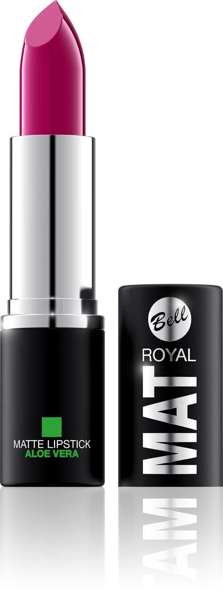 Bell Помада губная Матовая С Алоэ Вера Royal Mat Lipstick Тон 20, 4 грBpomRM020Помада создает матовую поверхность и максимальную насыщенность цвета. Аппликация помады является исключительно нежной и легкой, создавая при этом матовый эффект. Формула, содержащая регенерирующие компоненты алоэ дополнительно питает и ухаживает за губами. Благодаря высокому содержанию пигментов и стойкой формуле, помада держится на губах долгое время. Тон 20