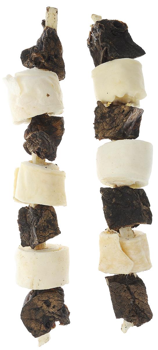 Лакомство для собак Titbit Лакомый кусочек, шашлычок говяжий, 2 шт6689Лакомство для собак Titbit Лакомый кусочек - это натуральный продукт, приготовленный из говядины, который обязательно понравится вашему любимцу. Лакомство не только вкусное, но и полезное. Оно удаляет зубной налет, предотвращает образование зубного камня, массирует десны. Кроме того, улучшает пищеварение и перистальтику кишечника. Теперь собака будет грызть лакомство, а не вашу мебель и обувь. Товар сертифицирован.