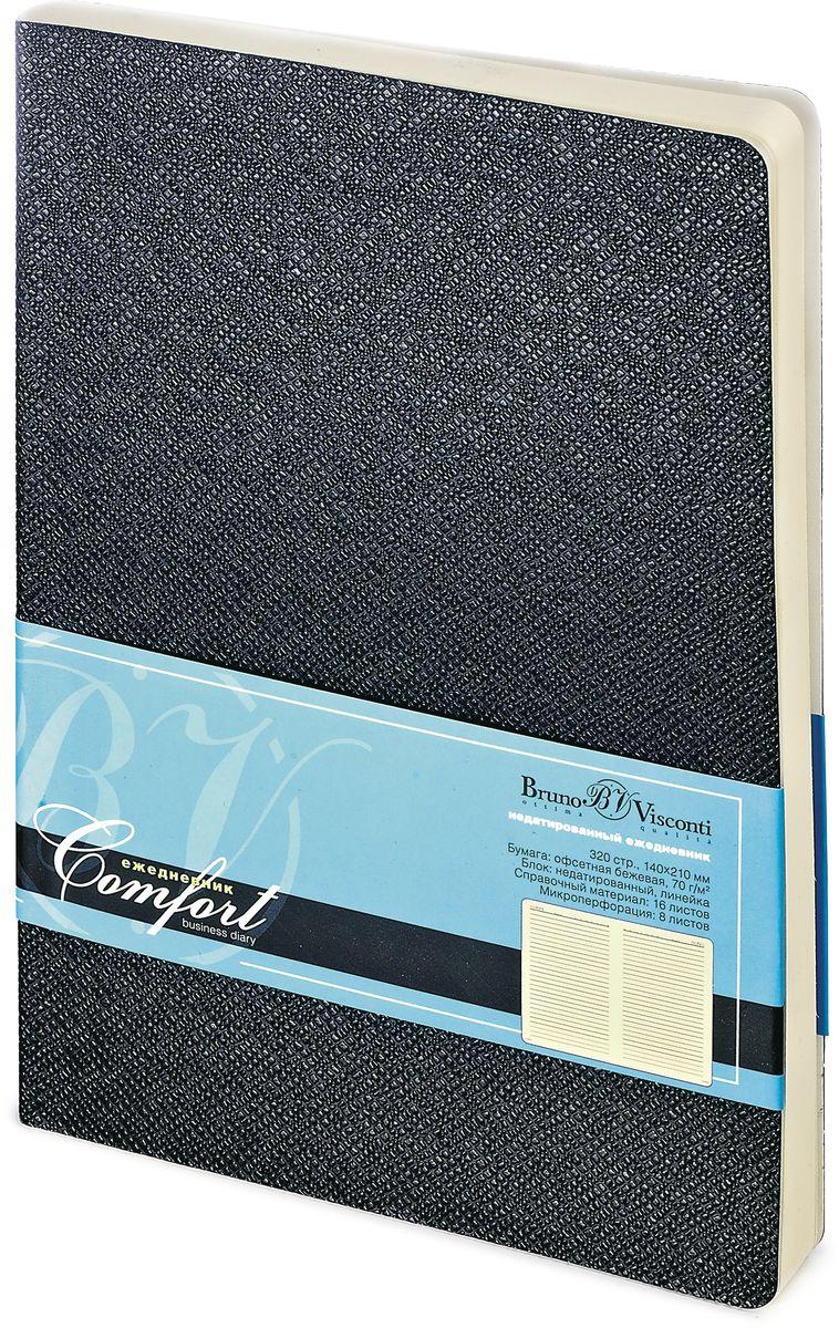 Bruno Visconti Ежедневник Comfort недатированный 160 листов цвет черный