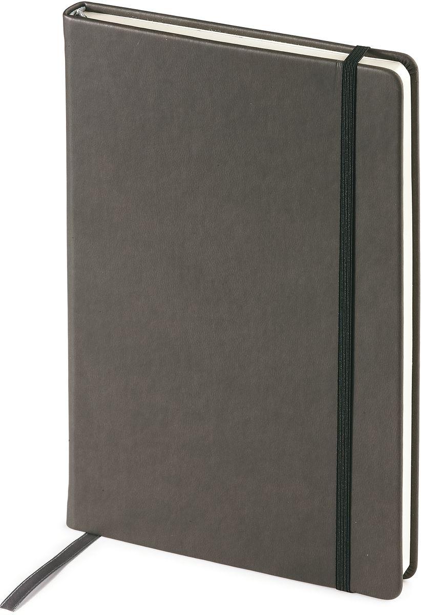 Bruno Visconti Ежедневник Megapolis Velvet недатированный 160 листов цвет серый