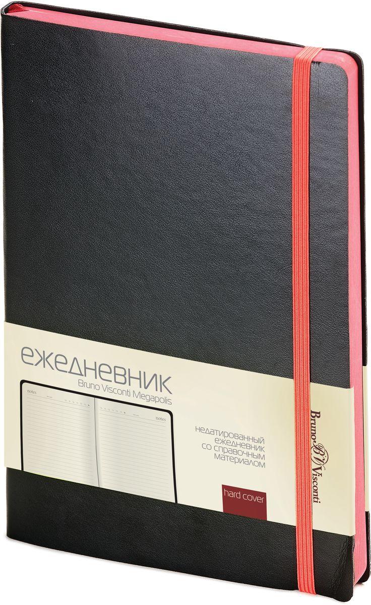 Bruno Visconti Ежедневник А5 MEGAPOLIS SOFT цвет черный