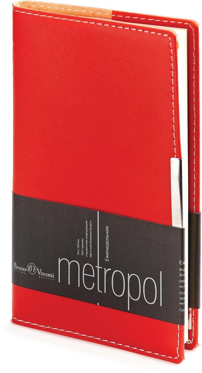 Bruno Visconti Еженедельник А6 METROPOL цвет красный
