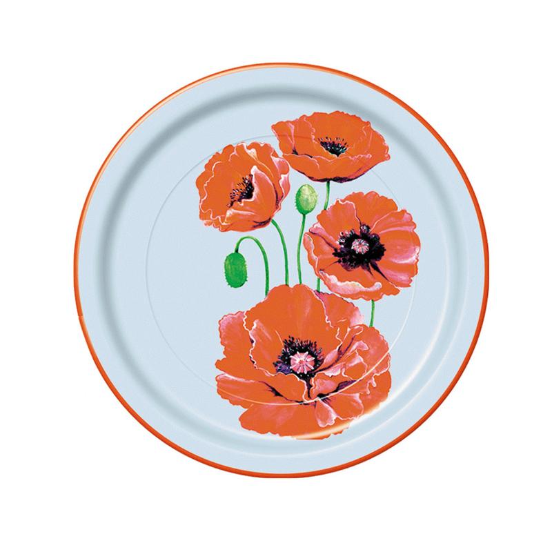 "Набор одноразовых тарелок Bulgaree Green ""Маки"", диаметр 23 см, 10 шт"