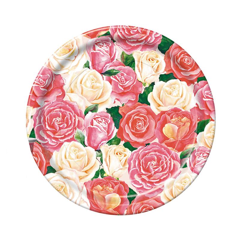 Набор одноразовых тарелок Bulgaree Green Розовый букет, диаметр 23 см, 10 шт2788Набор одноразовых десертных тарелок из картона с ярким принтом подойдет для сервировки стола на любой праздник. Тарелка покрыта тонким, в несколько микрон, слоем полиэтилена. Рисунок яркий и четкий.