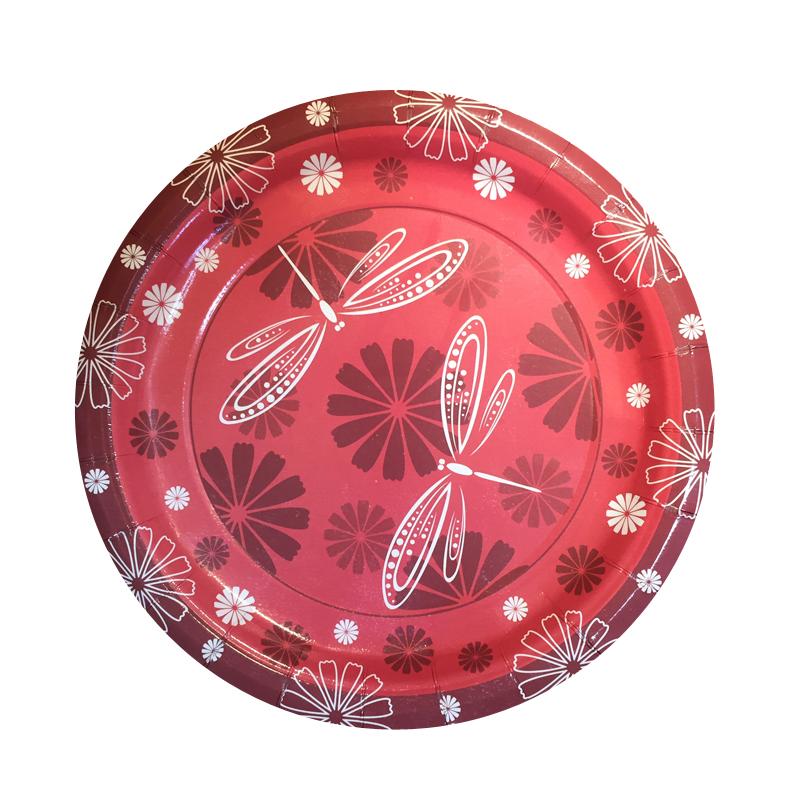 Набор одноразовых десертных тарелок Bulgaree Green Стрекозы, диаметр 18 см, 10 шт1040Набор одноразовых десертных тарелок из картона с ярким принтом подойдет для сервировки стола на любой праздник. Тарелка покрыта тонким, в несколько микрон, слоем полиэтилена. Рисунок яркий и четкий.