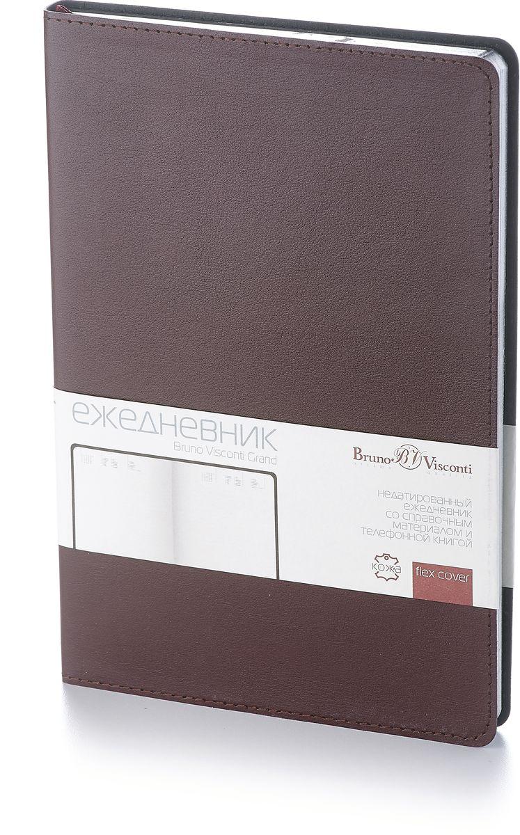 Bruno Visconti Ежедневник Megapolis Flex недатированный 136 листов цвет темно-коричневый