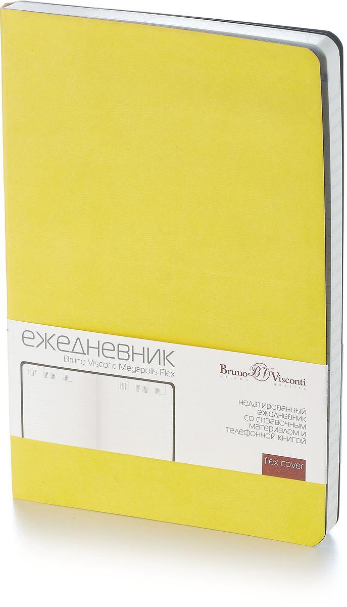 Bruno Visconti Ежедневник А5 MEGAPOLIS FLEX цвет желтый