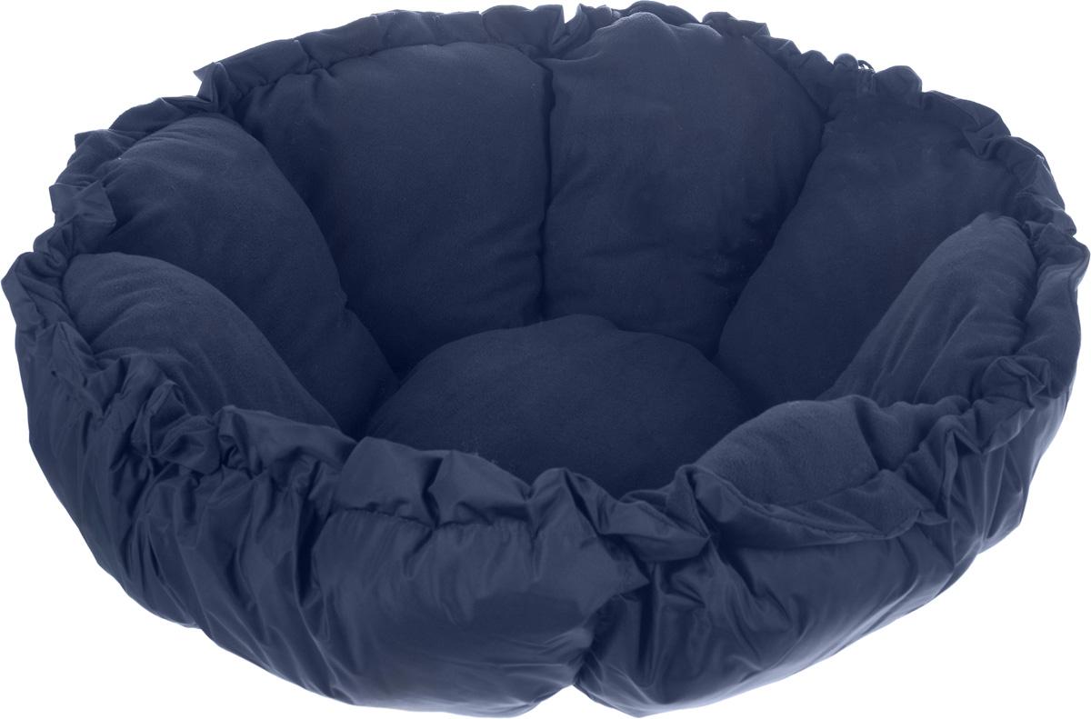 Лежак для животных Зоомарк Тыква, цвет: синий, диаметр 100 см4181_синийЛежак Зоомарк Тыква, выполненный из текстиля, обязательно понравится вашему питомцу. Лежак очень удобный и уютный, он оснащен бортиками. Ваш любимец сразу же захочет забраться на лежак, там он сможет отдохнуть и подремать в свое удовольствие. Компактные размеры позволят поместить лежак, где угодно, а приятная цветовая гамма сделает его оригинальным дополнением к любому интерьеру.