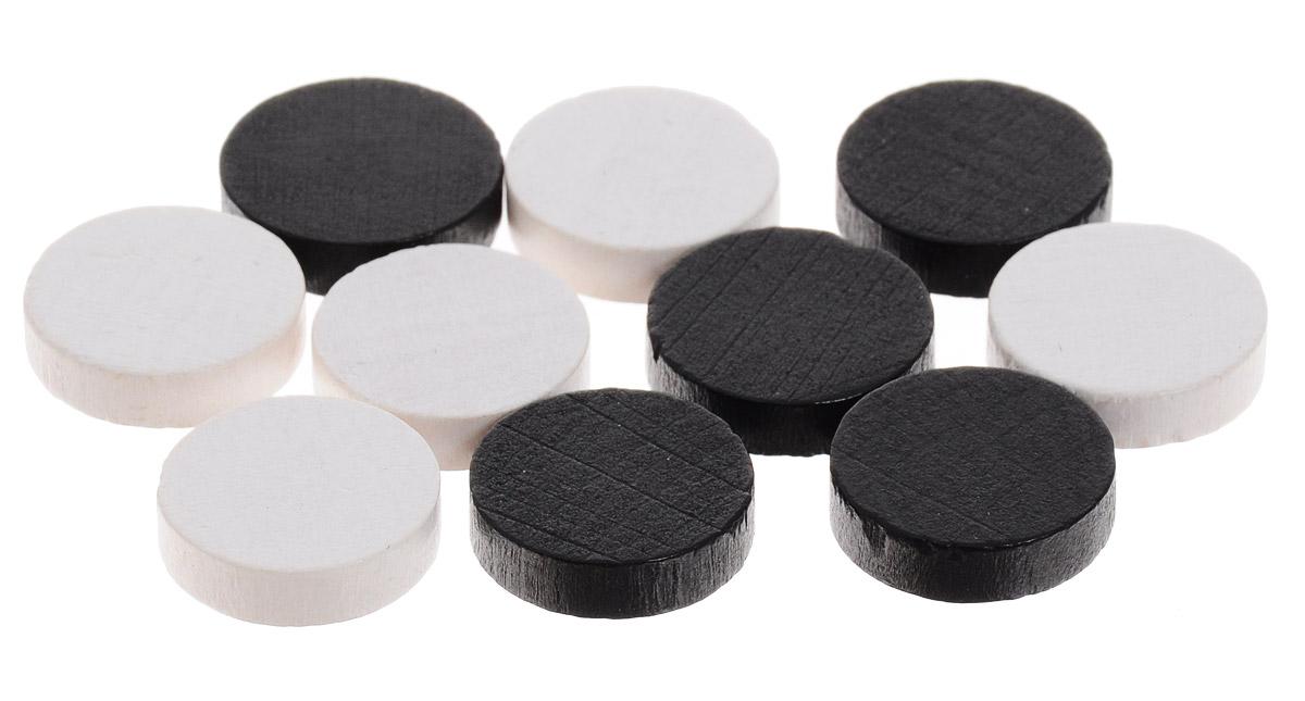Pandoras Box Набор фишек Эко-стиль диаметр 15 мм цвет белый черный 10 шт06LZ021_белый, черныйНабор фишек Эко-стиль предназначен для настольных игр. Фишки можно использовать для отметки уровня ресурсов жизни, победных очков при игре в настольные игры. В наборе представлены фишки белого и черного цветов. Фишки выполнены из натурального дерева и покрыты краской. Набор содержит 10 фишек диаметром 1,5 см.