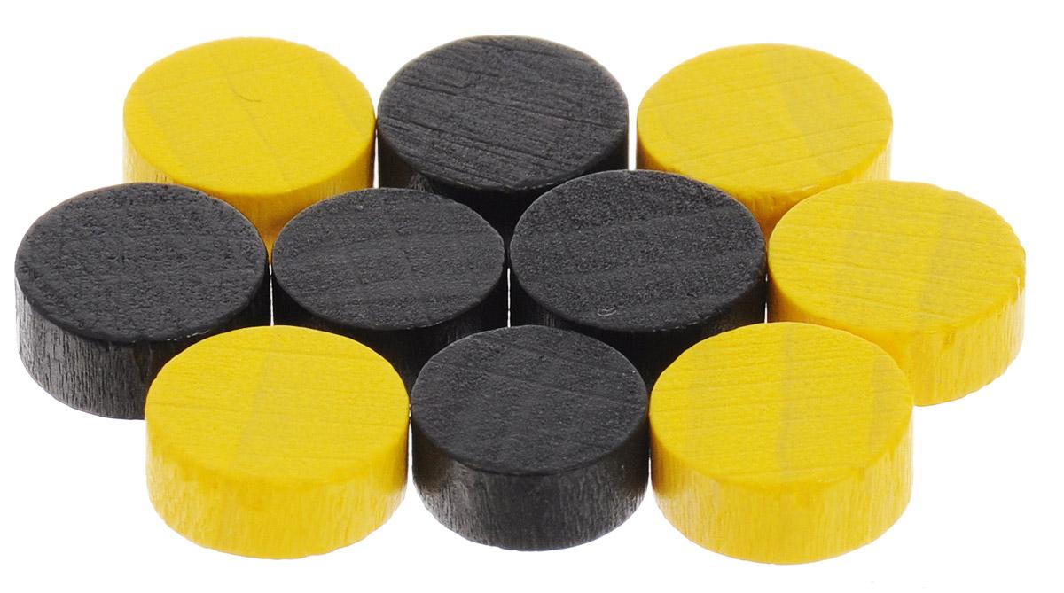 Pandoras Box Набор фишек Эко-стиль диаметр 10 мм цвет желтый черный 10 шт06LZ020_желтый, черныйНабор фишек Pandoras Box Эко-стиль предназначен для настольных игр. Фишки можно использовать для отметки уровня ресурсов жизни, победных очков при игре в настольные игры. В набор входят фишки желтого и черного цветов. Фишки выполнены из натурального дерева и покрыты яркой краской. Набор содержит 10 фишек диаметром 1 см.