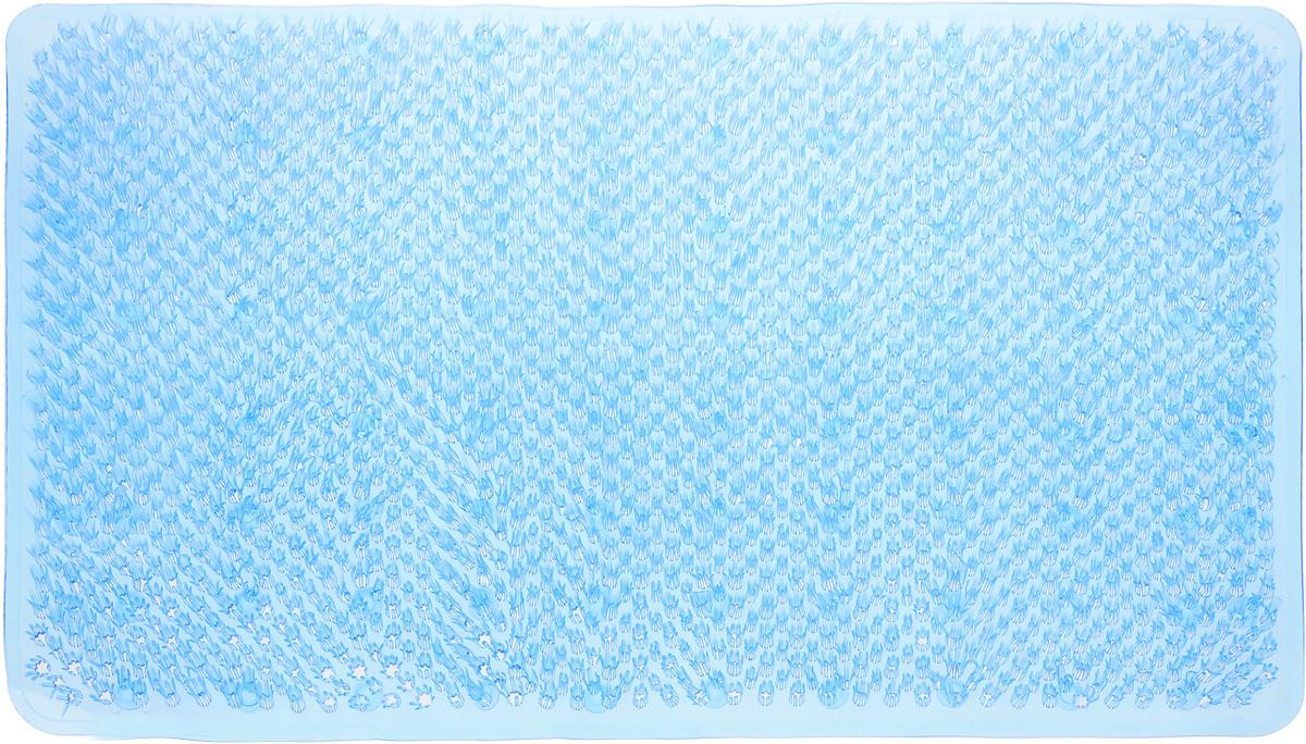 Коврик для ванной Vortex Травка, противоскользящий, цвет: голубой, 65 х 36 см15046_голубойКоврик Vortex Травка, изготовленный из ПВХ, предназначен для использования в ванной комнате и душевой кабине против скольжения. Коврик крепится на дно ванны с помощью небольших присосок. Благодаря рельефной поверхности, коврик предотвращает скольжение и исключает возможность падения в ванне.