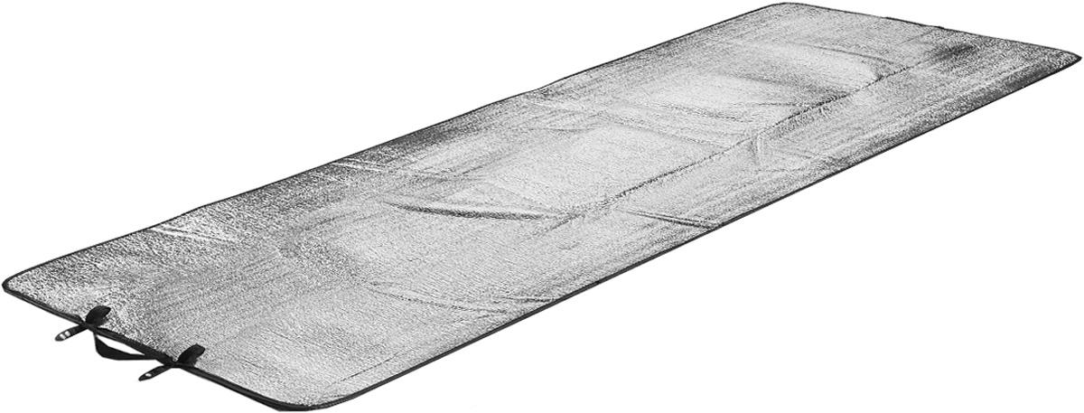 Коврик туристический High Peak Alumatte Single, цвет: серый металлик, 190 х 60 х 0,2 см41090Туристический коврик High Peak Alumatte Single очень легкий, изолирует от холода, компактный, непромокаемый. Он станет необходимым атрибутом любого туристического похода, выездов за город, рыбалки. Коврик выполнен из высококачественного полиэтилена и алюминиевой фольги. Встроенная система застежки позволяет компактно свернуть коврик и разместить его внутри или снаружи рюкзака.