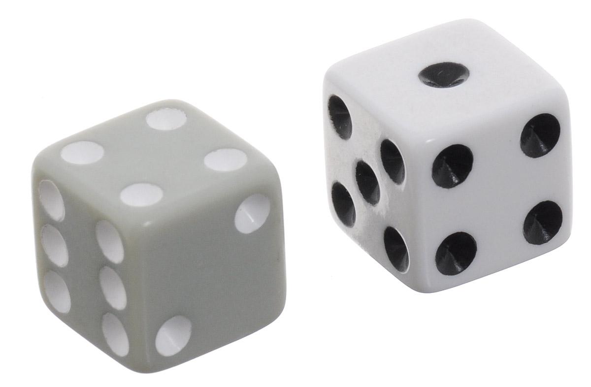 Koplow Games Набор игральных костей Простые D6 цвет белый серый 2 шт2000_белый, серыйНабор игральных костей Koplow Games Простые предназначен для настольных игр. Набор состоит из двух шестигранных костей, на каждую грань которых нанесены числа от 1 до 6. Целью кубика является демонстрация случайно определенного целого числа от одного до шести, каждое из которых является равновозможным благодаря правильной геометрической форме. Игральные кости выполнены из прочного пластика белого и серого цветов.