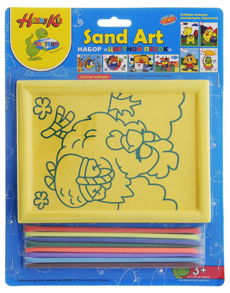 Centrum Набор для создания картины из цветного песка Курочка с корзинкой