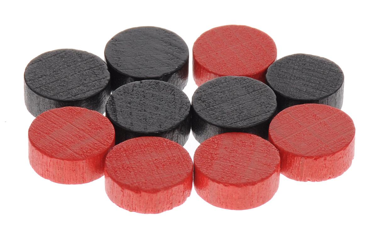 Pandoras Box Набор фишек Эко-стиль диаметр 10 мм цвет красный черный 10 шт06LZ020_красный, черныйНабор фишек Pandoras Box Эко-стиль предназначен для настольных игр. Фишки можно использовать для отметки уровня ресурсов жизни, победных очков при игре в настольные игры. В набор входят фишки красного и черного цветов. Фишки выполнены из натурального дерева и покрыты яркой краской. Набор содержит 10 фишек диаметром 1 см.