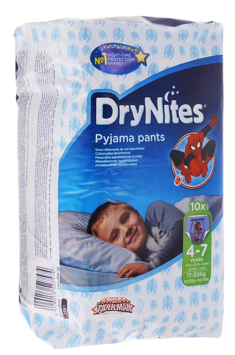 Huggies Подгузники-трусики для мальчиков DryNites 4-7 лет 17-30 кг 10 шт