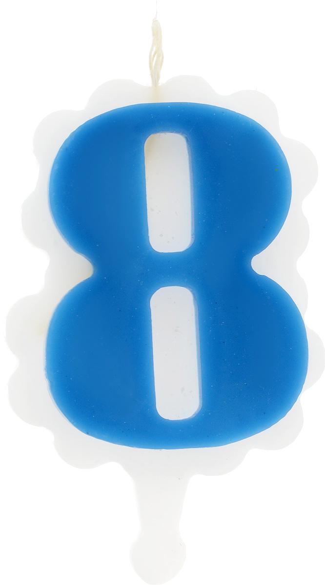 Свеча-цифра Принт Торг Облако. Цифра 8, цвет: синий, белый05.108.01Свеча-цифра для торта Принт Торг Облако. Цифра 8 изготовлена из высококачественного пищевого парафина. Такая свеча станет отличным решением для декорирования торта к празднику. Ее можно комбинировать с другими цифрами. Изделие хорошо и долго горит. С этой свечой ваш праздник станет еще удивительнее и веселее. Высота свечи (без учета фитиля): 8,5 см.