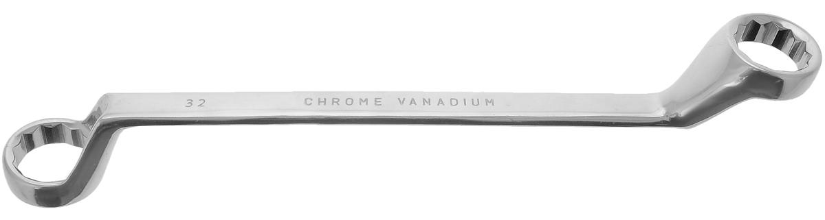 Ключ гаечный накидной Vira, 30 x 32 мм511038Накидной гаечный ключ Vira станет отличным помощником монтажнику или владельцу авто. Этот инструмент обеспечит надежную фиксацию на гранях крепежа. Благодаря изогнутым на 70 градусов головкам вы обеспечите себе удобный доступ к элементам крепежа и безопасность. Специальная хромованадиевая сталь повышает прочность и износ инструмента. Размер ключа: 37 х 4,5 х 10 см.