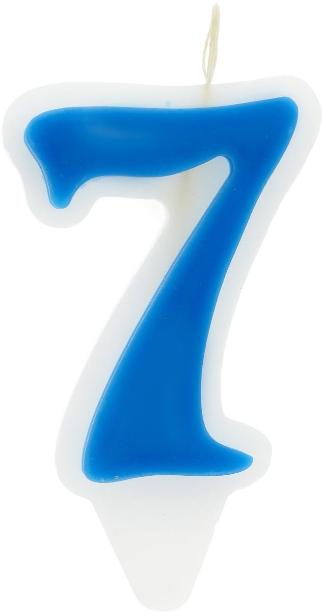 Свеча-цифра Принт Торг Гармония. Цифра 7, цвет: синий, белый05.207.01Свеча-цифра для торта Принт Торг Гармония. Цифра 7 изготовлена из высококачественного пищевого парафина. Такая свеча станет отличным решением для декорирования торта к празднику. Ее можно комбинировать с другими цифрами. Изделие хорошо и долго горит. С этой свечой ваш праздник станет еще удивительнее и веселее. Высота свечи (без учета фитиля): 8,5 см.