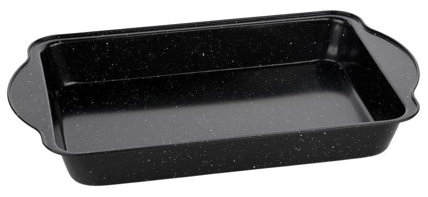 Форма для запекания Walmer Black Marble, 40,5 х 25,5 х 5,5 смW12022426Прямоугольная форма для выпечки Walmer Black Marbler, выполненная из высококачественной углеродистой стали, гарантирует великолепный результат. Материал корпуса, эффективность которого усилена вкраплениями дополнительного слоя твердых частиц, обеспечивает максимальную теплоотдачу, экономя время приготовления. Двухслойное антипригарное покрытие Xynflon полностью безопасно и не выделяет вредных веществ при нагреве. Форма имеет эргономичные ручки. Можно мыть в посудомоечной машине.