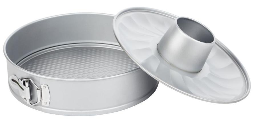 Форма для выпечки Walmer Silver, разъемная, со сменным дном, диаметр 26 смW12022668Разъемная форма для выпечки Walmer Silver, выполненная из высококачественной углеродистой стали, гарантирует великолепный результат. Материал корпуса обеспечивает максимальную теплоотдачу, экономя время приготовления. Двухслойное антипригарное покрытие Xynflon полностью безопасно и не выделяет вредных веществ при нагреве. Изделие оснащено разъемным механизмом, благодаря которому готовое блюдо очень легко вынимать. В комплект также входит второе съемное дно с выемкой для приготовления кекса. Можно мыть в посудомоечной машине.