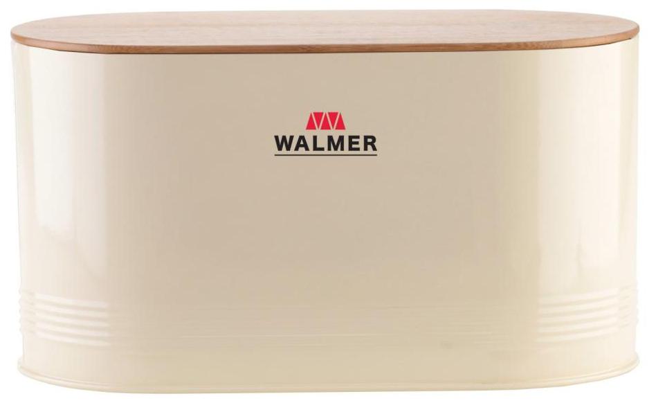 Хлебница Walmer с разделочной доской, цвет: слоновая кость, 34 х 18 х 19W13040034Овальная хлебница Walmer, выполненная в оригинальном дизайне из стали с порошковым покрытием, имеет бамбуковую крышку, предназначенную для нарезки хранящегося хлеба. Изделие обладает большой вместимостью, которая позволяет хранить не только формованный хлеб из магазина, но и домашнюю выпечку всех видов и размеров. Эксклюзивный дизайн, эстетика и функциональность хлебницы позволят ей стать не только незаменимым аксессуаром на кухне, но и предметом украшения интерьера. В ней хлеб всегда останется свежим и вкусным.