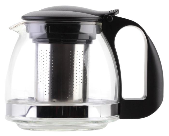 Чайник заварочный Walmer Aster, цвет: черный, 1,25 л. W15006125W15006125