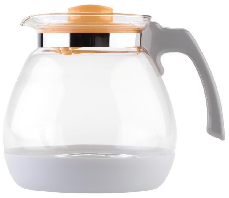 Чайник заварочный Walmer Lime, цвет: желтый, 1,7 лW15007170Заварочный чайник Walmer Lime выполнен из высококачественной стекла. Благодаря фильтру в пластиковой крышке ни чаинки, ни кусочки фруктов не попадут в чашку. Съемная пластиковая подставка защищает корпус чайника от случайных ударов о поверхность стола. Крышка закрывается плотно, вы сможете наклонять чайник как угодно, она не выпадет. Такой заварочный чайник придется по вкусу и ценителям классики, и тем, кто предпочитает утонченность и изысканность. Диаметр по верхнему краю: 10 см. Высота чайника (без учета крышки): 15,8 см. Высота чайника (с учетом крышки): 16 см.