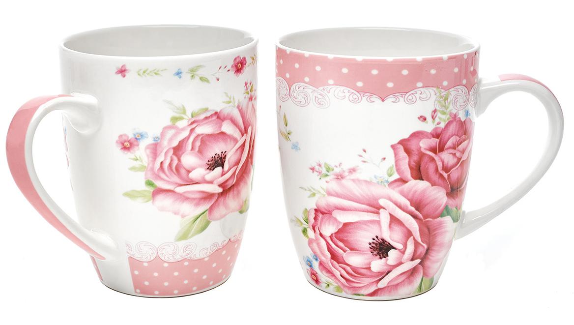 Набор кружек Walmer Roses, 340 мл, 2 штW16011034Набор кружек Walmer Roses, выполненный из костяного фарфора, состоит из двух кружек одинакового объема. Каждая кружка оформлена нежным цветочным рисунком и дополнена эргономичной ручкой. Набор кружек Walmer Roses не только порадует своей практичностью, но и станет приятным сувениром для ваших близких. А оригинальное оформление набора добавит ярких эмоций.