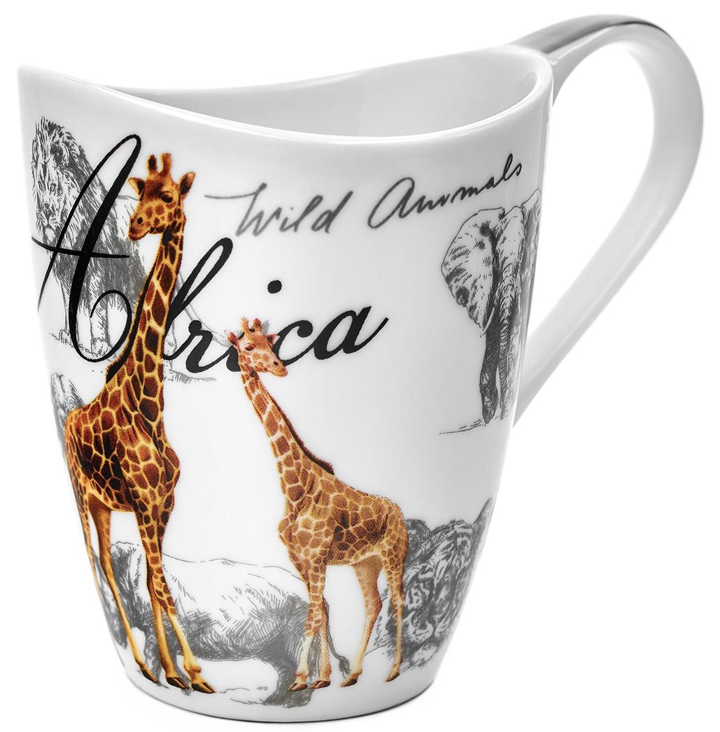 Кружка Walmer Giraffe, 420 млW16032042Кружка Walmer Giraffe, выполненная из костяного фарфора, обладает необычной формой и увеличенным объемом, который подойдет для большого чаепития. Изделие дополнено эргономичной ручкой. Такой подарок не только порадует своей практичностью, но и станет приятным сувениром для ваших близких. А оригинальное оформление кружки добавит ярких эмоций.