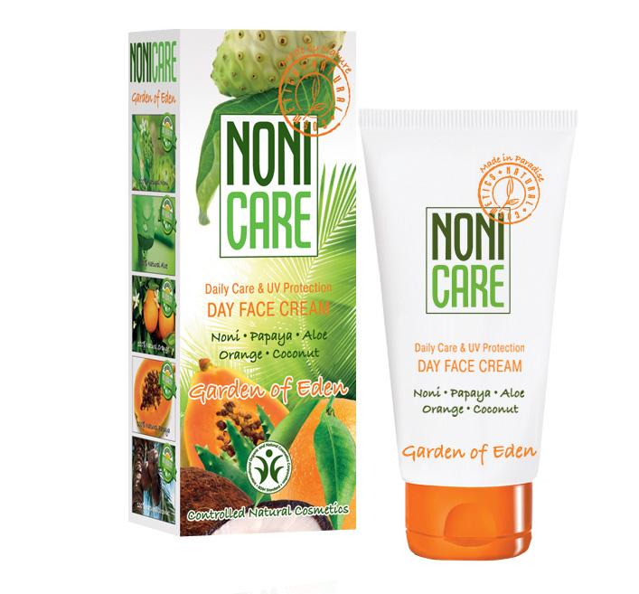 Nonicare Энергетический крем для лица с УФ-фильтрoм Garden Of Eden - Day Face Cream 50 мл4260254460111Эффективно защищает от неблагоприятной экологии и УФ излучения. Инициирует процессы самовосстановления кожи. Помогает нормализовать выделение кожного сала, очистить и заметно сузить расширенные поры. Борется с пигментацией и препятствует ее появлению. Нормализует процесс обновления кожи, разглаживает её поверхностный слой и устраняет мелкие морщинки, активно увлажняет. Крем выравнивает кожу и улучшает ее цвет. Создан на основе сока фрукта Нони, кокосового масла, масла подсолнечника, алоэ, экстракта карликовой пальмы, молочной кислоты, сквалана и устойчивых форм витаминов С и Е, экстракта ананаса, папайи и ванили, масла кожуры сладкого апельсина. Крем наполняет кожу влагой, внутренней энергией и сиянием. Препятствует утолщению рогового слоя (гиперкерато) кожи, вызванному УФ излучением. Восстанавливает её барьерные, влагоудерживающие и иммунные функции. Средство содержит фотофильтры из растительных масел, сквалана и витамина Е. Кожа становится более матовой, гладкой, эластичной....
