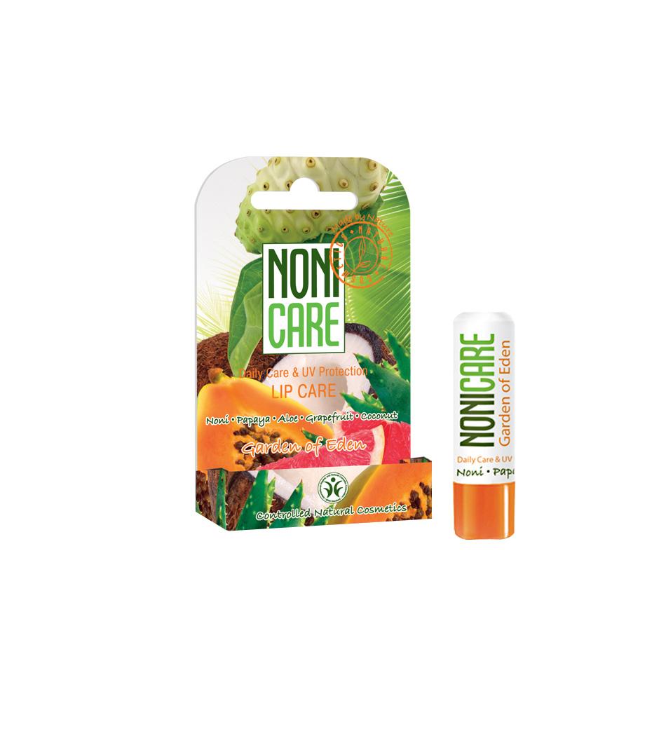 Nonicare Бальзам для губ с УФ-фильтром Garden Of Eden - Lip Care 5г4260254460135Бальзам эффективно защищает губы от обветривания, мороза и солнца, от пересыхания и негативного воздействия окружающей среды. Растительные фотофильтры блокируют негативное действие УФ излучения и предупреждают повреждения и возрастные изменения кожи губ (уменьшение объема губ и их сморщивание). Натуральные масла и воски создают на поверхности губ защитную пленку, интенсивно питают, увлажняют, улучшают микроциркуляцию и предотвращают появление сухости, трещинок, морщинок и заед. Масло оливы, ши и какао интенсивно питают, увлажняют и восстанавливают кожу, улучшают микроциркуляцию и придают гладкость; неитрализуют действие свободных радикалов. Экстракты ананаса и папайи, содержащие АХА кислоты и энзимы, ускоряют процесс обновления кожи, увлажняют, активизируют синтез коллагена, являются мощными антиоксидантами и проводниками других активных компонентов. Губы выглядят более гладкими, яркими и пухлыми. При ежедневном применении улучшается состояние губ и их природный цвет. Необходимое...