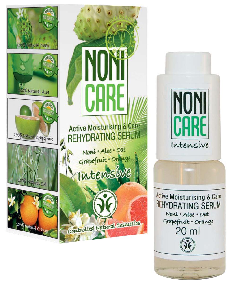 Nonicare Увлажняющая сыворотка Intensive - Rehydrating Serum 20 мл5903240869350Ультраконцентрированная сыворотка обеспечивает быстрое, пролонгированное увлажнение на 24 часа. Содержит активный увлажняющий комплекс, который эффективно решает проблему обезвоженности кожи, защищает от сухости, устраняет ощущение стянутости и дискомфорта. Сок Нони насыщает кожу необходимыми микроэлементами и витаминами, оказывает мощное антиоксидантное действие, нейтрализует агрессивное воздействие окружающей среды. Экстракт овса питает, укрепляет и моментально увлажняет уставшую кожу. Экстракт алоэ барбадосского оказывает успокаивающее и расслабляющее действие. Сыворотка выравнивает кожный рельеф, разглаживает мимические морщинки, образовавшиеся в результате обезвоженности кожи, способствует сохранению влаги в глубоких слоях эпидермиса. Регулярное курсовое применение сыворотки продлевает молодость кожи, делая её гладкой, упругой и шелковистой. Рекомендована для всех типов кожи с 25 лет.