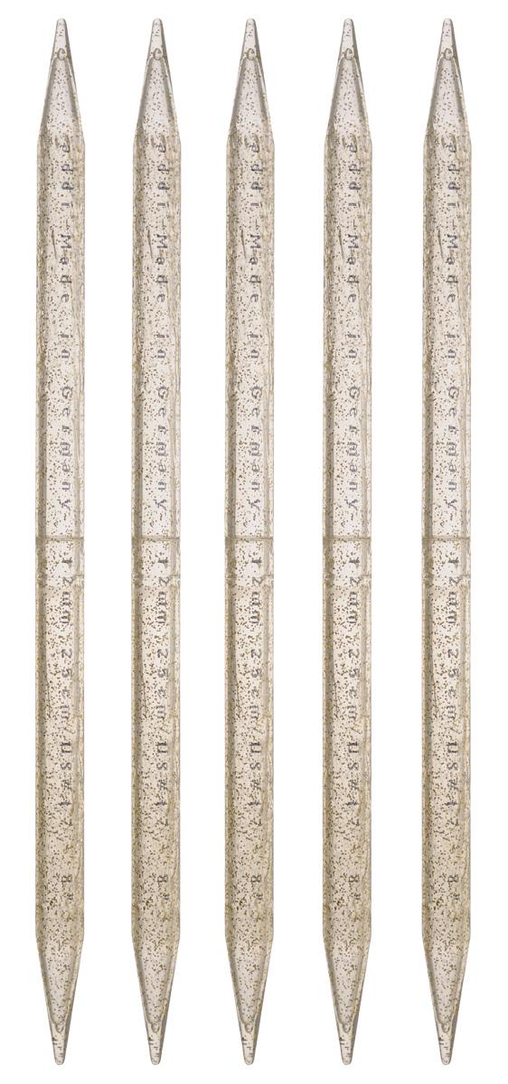 Спицы чулочные Addi, пластиковые, диаметр 12 мм, длина 25 см, 5 шт401-7/12-25Чулочные спицы Addi выполнены из высококачественного пластика с декором золотыми блестками. Плотный пластиковый состав позволяет спицам уверенно выполнять работу, создавая при этом приятные тактильные ощущения для вязальщицы. Спицы не имеют ограничителей и предназначены для вязания бейки горловины, чулок, шапочек, варежек и носков. Вы сможете вязать для себя и делать подарки друзьям. Рукоделие всегда считалось изысканным, благородным делом. Работа, сделанная своими руками, долго будет радовать вас и ваших близких.
