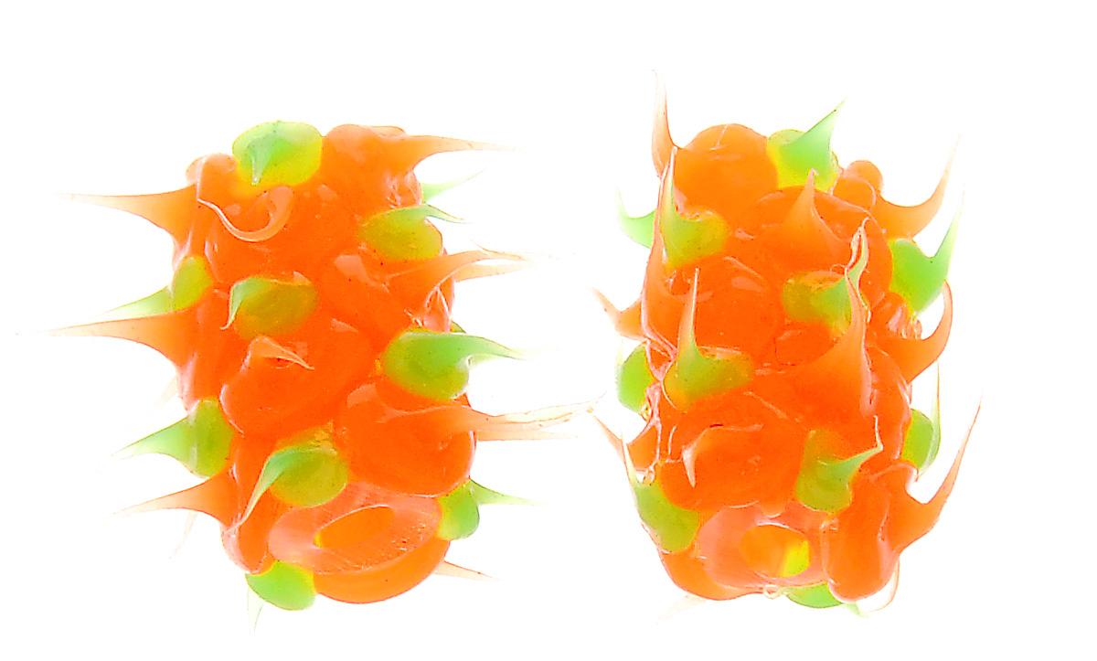 Бусины Астра Лалапусики, цвет: оранжевый, салатовый (13), 8 х 15 мм, 2 шт7714154_13Набор бусин Астра Лалапусики, изготовленный из резины, позволит вам своими руками создать оригинальные ожерелья, бусы или браслеты. Бусины имеют мягкие шипы. Изготовление украшений - занимательное хобби и реализация творческих способностей рукодельницы, это возможность создания неповторимого индивидуального подарка. Размер бусины: 8 х 15 мм.