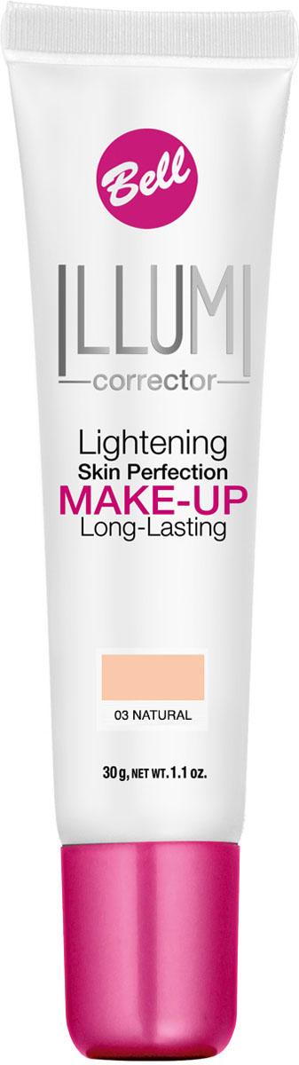 Bell Флюид суперстойкий корректирующий и придающий сияние Illumi Lightening Skin Perfection Make-up 30 грBflLC003Флюид содержит специальные частички, отражающие свет, обеспечивая совершенный цвет лица, пробуждая уставшую кожу. Корректирует недостатки, выравнивает тон кожи, придает свежесть и сияние, делает кожу шелковистой и матовой надолго. Тон 3