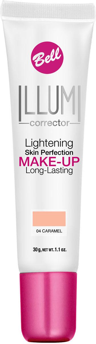 Bell Флюид суперстойкий корректирующий и придающий сияние Illumi Lightening Skin Perfection Make-up 30 грBflLC004Флюид содержит специальные частички, отражающие свет, обеспечивая совершенный цвет лица, пробуждая уставшую кожу. Корректирует недостатки, выравнивает тон кожи, придает свежесть и сияние, делает кожу шелковистой и матовой надолго. Тон 4