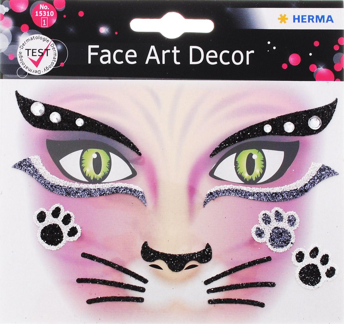 Herma Наклейки на лицо Face Art Pink Cat15310