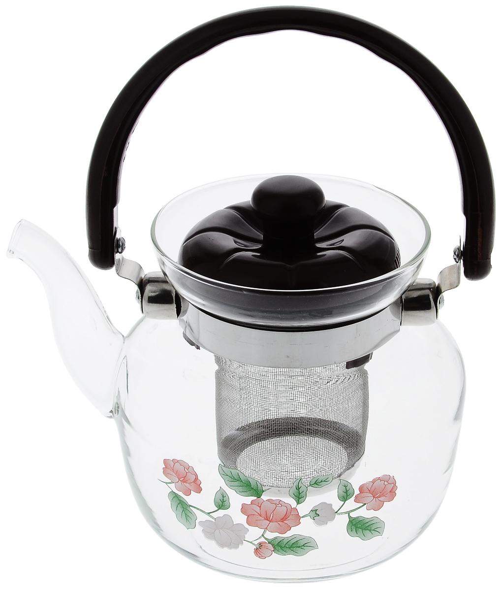 Чайник заварочный Mayer & Boch, с фильтром, 800 мл2588Заварочный чайник Mayer & Boch, выполненный из термостойкого стекла, предоставит вам все необходимые возможности для успешного заваривания чая. Изделие оснащено пластиковой ручкой, крышкой и сетчатым фильтром из нержавеющей стали, который задерживает чаинки и предотвращает их попадание в чашку. Чай в таком чайнике дольше остается горячим, а полезные и ароматические вещества полностью сохраняются в напитке. Эстетичный и функциональный чайник будет оригинально смотреться в любом интерьере. Не рекомендуется мыть в посудомоечной машине. Диаметр чайника (по верхнему краю): 9,5 см. Высота чайника (без учета ручки и крышки): 12,3 см. Высота фильтра: 6,5 см.