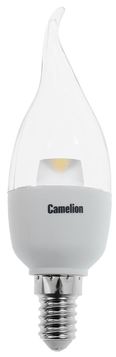 Лампа светодиодная Camelion, холодный свет, цоколь Е14, 5,5W11759Энергосберегающая лампа Camelion - это инновационное решение, разработанное на основе новейших суперэффективных светодиодных технологий (LED ULTRA) для эффективной замены любых видов галогенных или обыкновенных ламп накаливания во всех типах осветительных приборов. Она хорошо подойдет для создания рабочей атмосферы в производственных и общественных зданиях, спортивных и торговых залах, в офисах и учреждениях. Лампа не содержит ртути и других вредных веществ, экологически безопасна и не требует утилизации, не выделяет при работе ультрафиолетовое и инфракрасное излучение. Напряжение: 220-240 В / 50 Гц. Индекс цветопередачи (Ra): 82+. Угол светового пучка: 220°. Использовать при температуре: от -30° до +40°.
