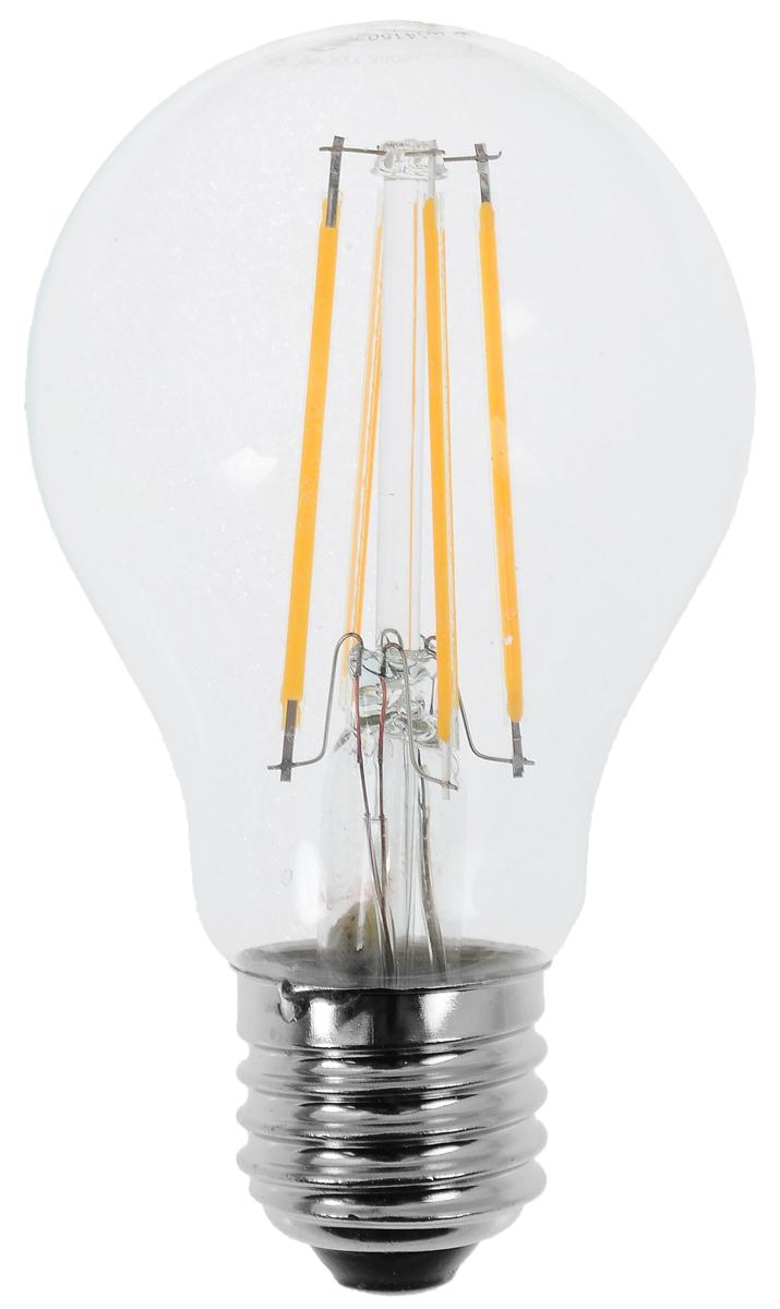 Лампа светодиодная Camelion, теплый свет, цоколь Е27, 8W11989Светодиодная лампа Camelion - это инновационное решение, разработанное на основе новейших светодиодных технологий (LED) для эффективной замены любых видов галогенных или обыкновенных ламп накаливания во всех типах осветительных приборов. Она хорошо подойдет для освещения квартир, гостиниц и ресторанов. Лампа не содержит ртути и других вредных веществ, экологически безопасна и не требует утилизации, не выделяет при работе ультрафиолетовое и инфракрасное излучение. Напряжение: 220-240 В / 50 Гц. Индекс цветопередачи (Ra): 82+. Угол светового пучка: 330°. Использовать при температуре: от -30° до +40°.
